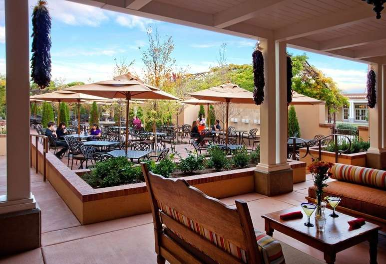 Hotel Old Town Albuquerque's Outside Patio