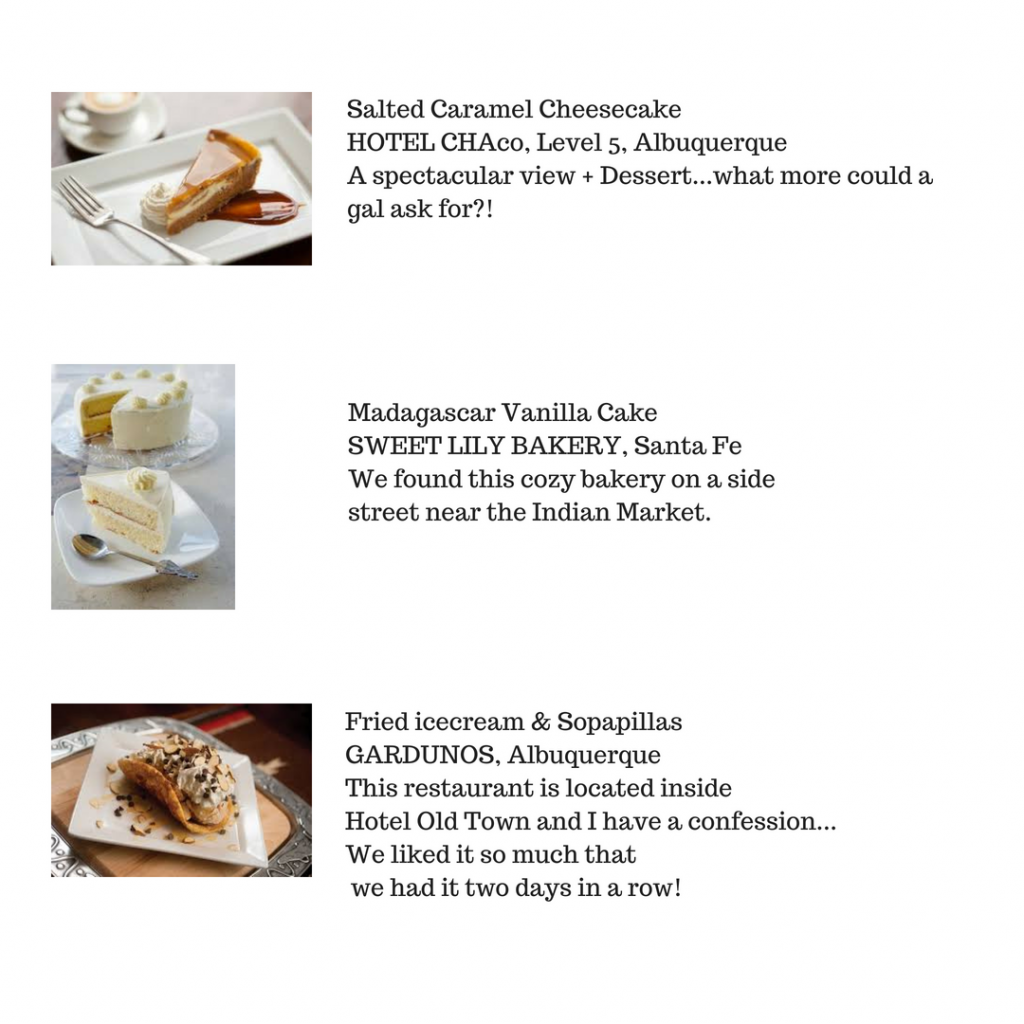 Desserts in New Mexico